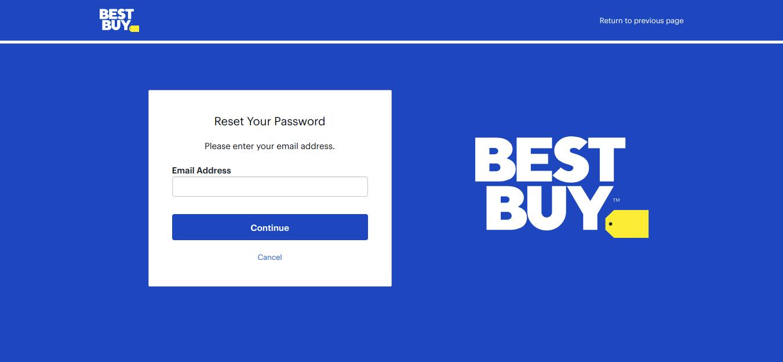 BestBuy Forgot password