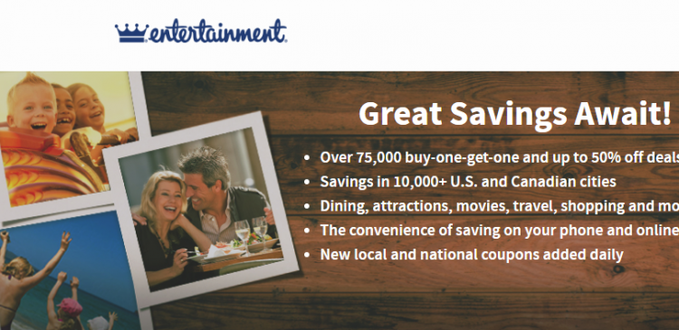 Activate Entertainment Book Membership