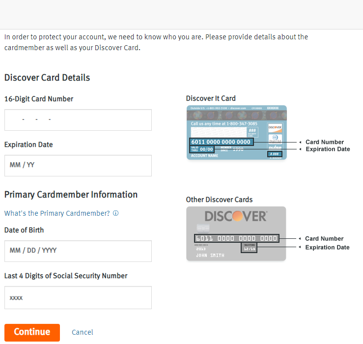 Access The Discover Credit