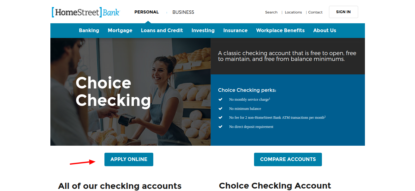 Apply-for-Free-Checking-Choice-home-bank