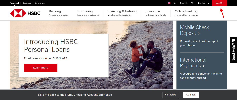HSBC-Bank-USA-login