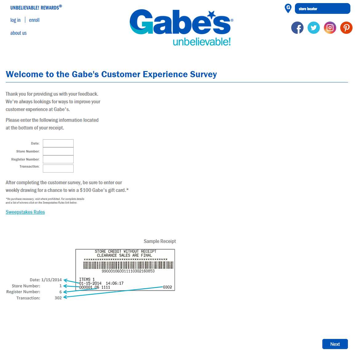 Join-The-Gabe's-Survey-And-Earn-100-Gift-Card