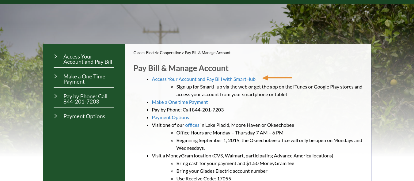 gladesec-pay-bill-manage-account