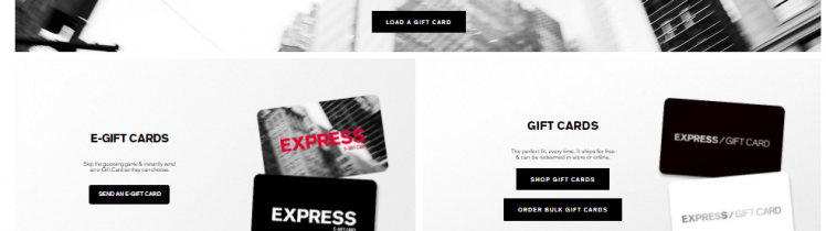 Check Express gift card balance