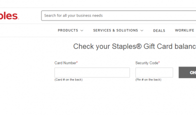 Check Staples gift card balance
