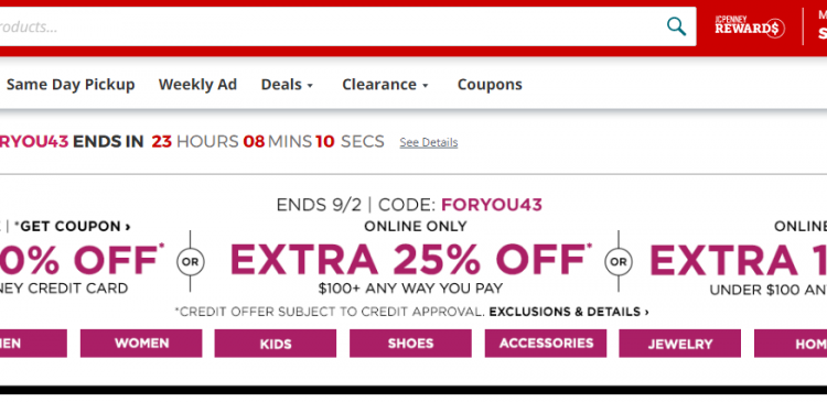 www.jcpenney.com credit coupons