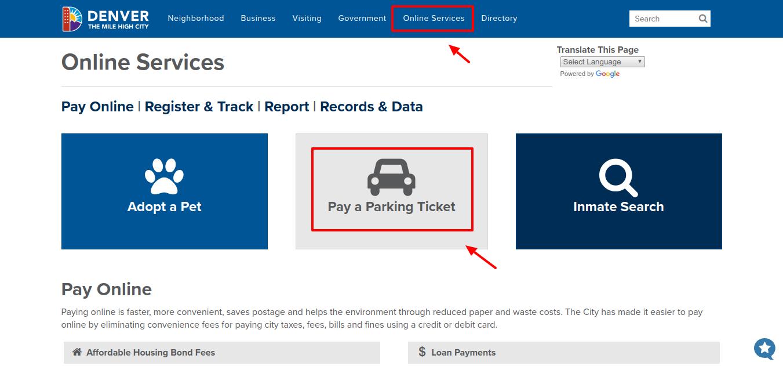 Denver Parking Ticket Pay