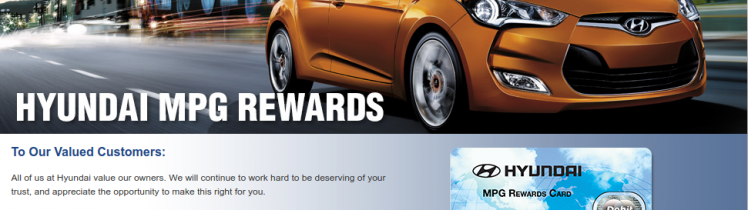 Hyundai Reward Card Logo