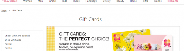 Peebles gift cards balance check
