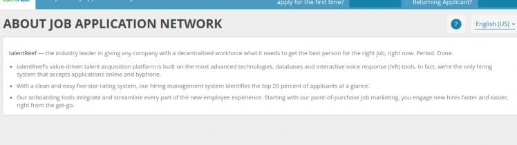 talentReef Applicant Portal logo