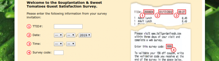 Souplantation Guest Satisfaction Survey