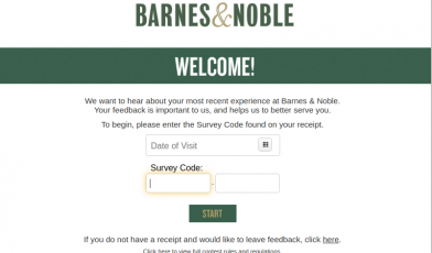 Barnes and Noble Survey