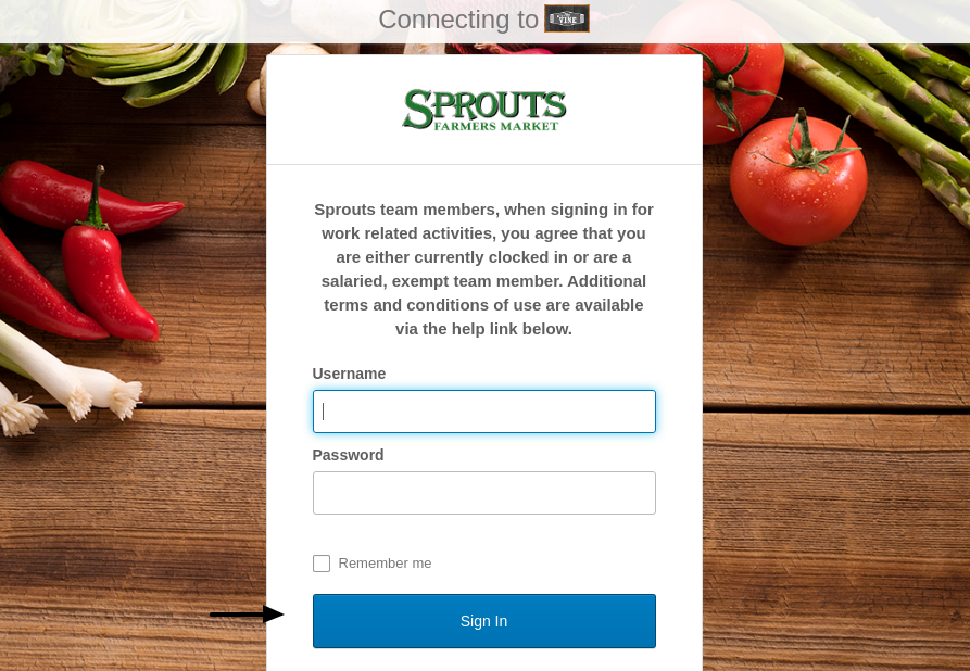 Sprouts Farmers Market - Sign In