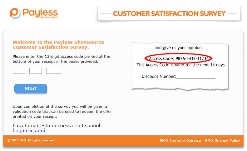 Payless Customer Satisfaction Survey