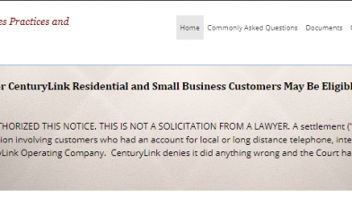 Century Link MDL Class Action
