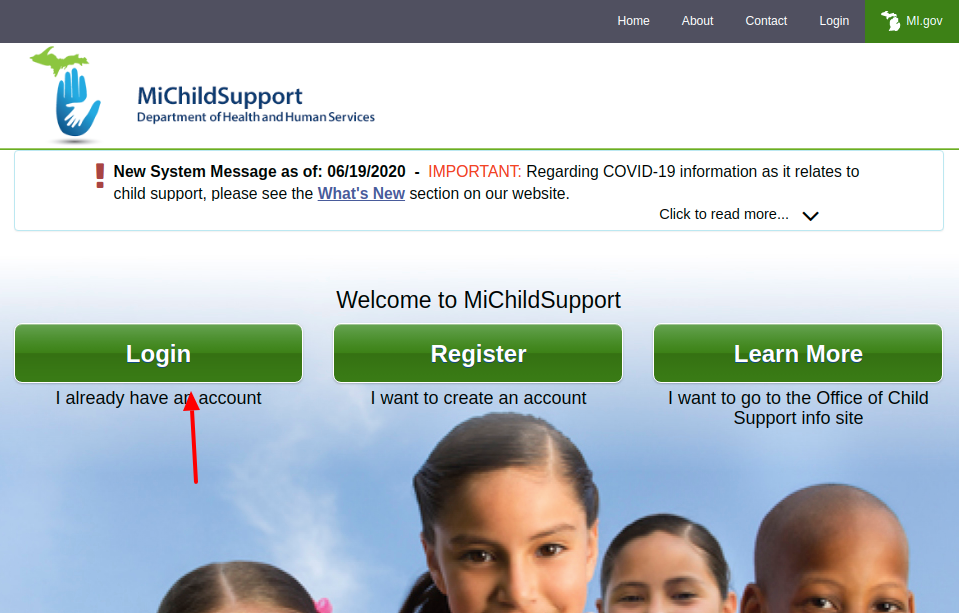 Michigan Child Support Login