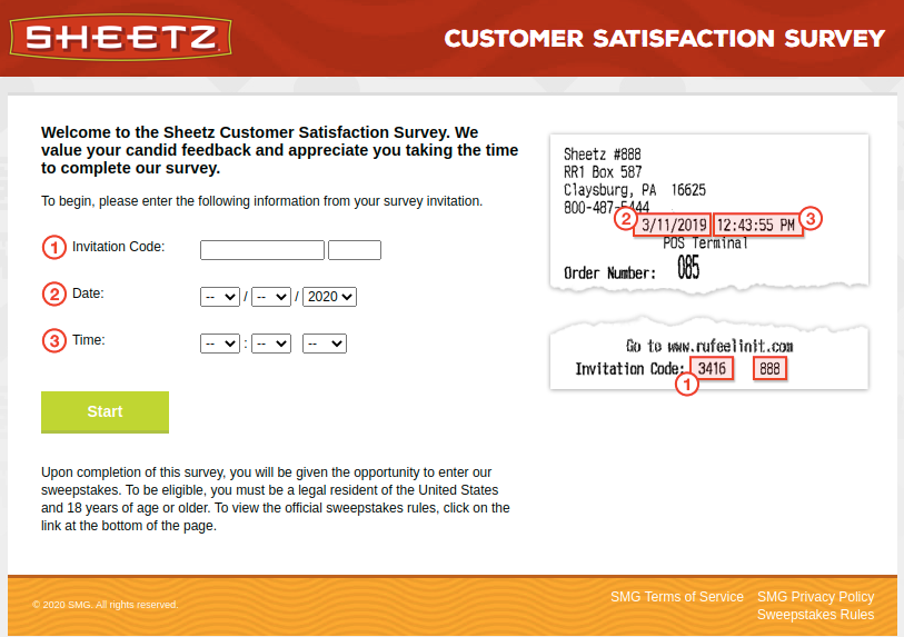 Sheetz Customer Survey