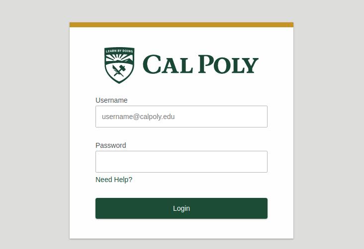 Cal Poly Login