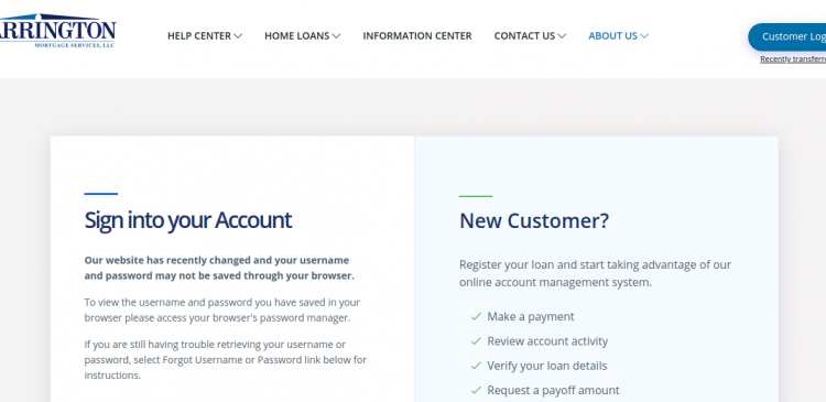 Carrington Mortgage Services Login