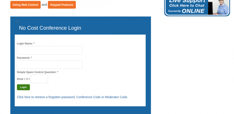 no cost conference login