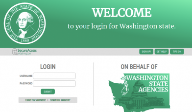 secure access washington saw login