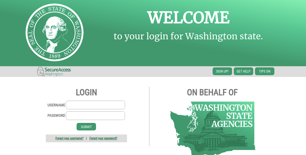 secure access washington saw login