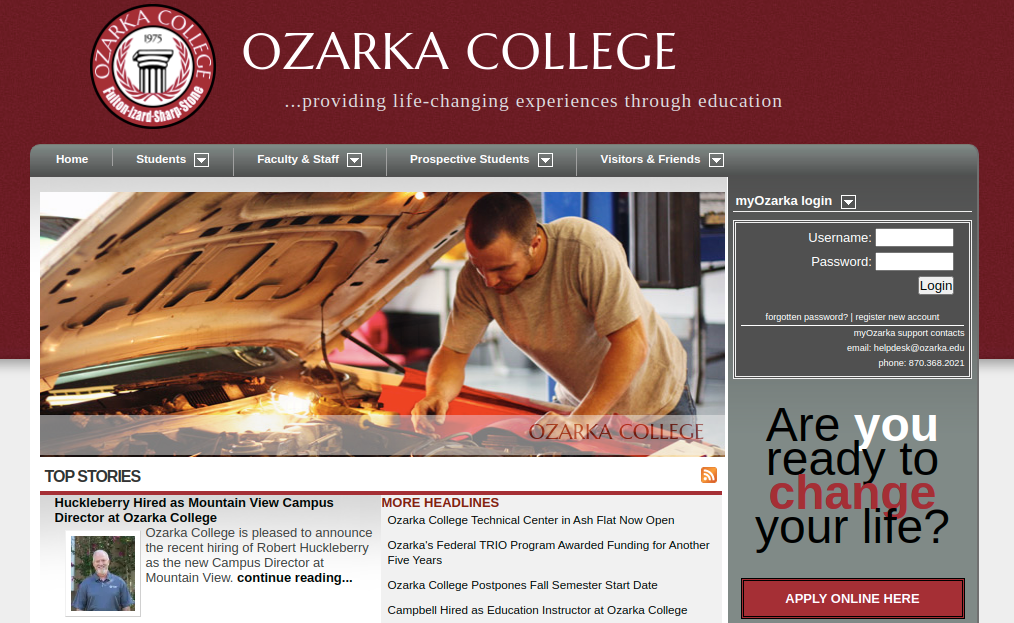 Ozarka College Login