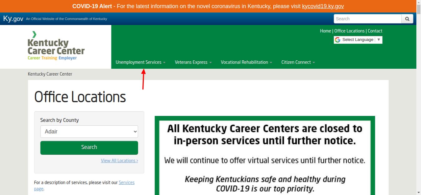 Kentucky Career Locations Umemployement