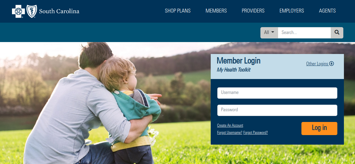 blue cross blue shield of south carolina login