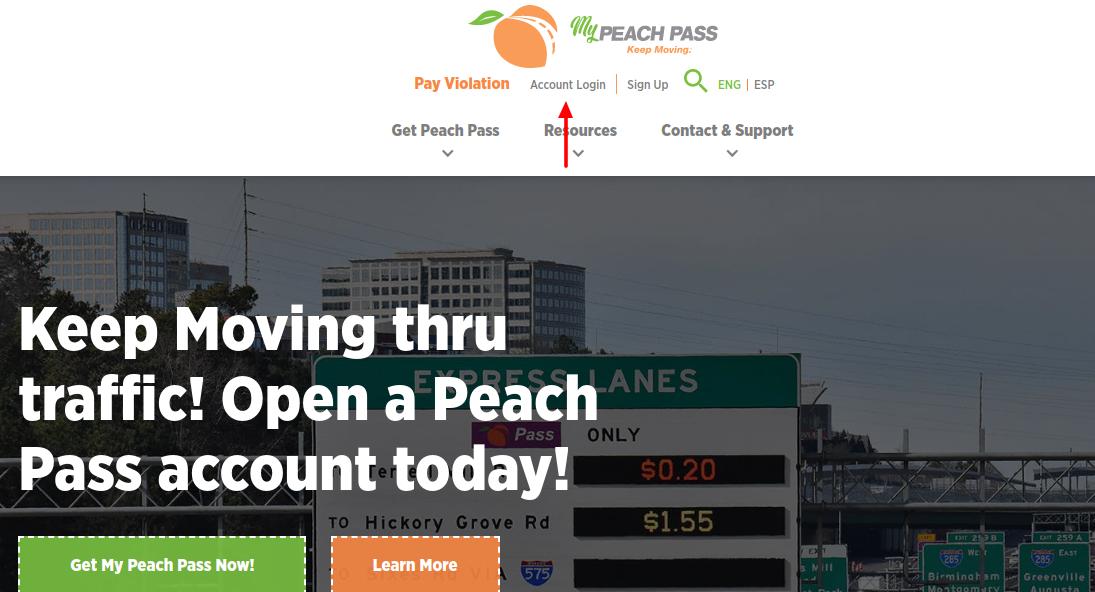 peach pass login