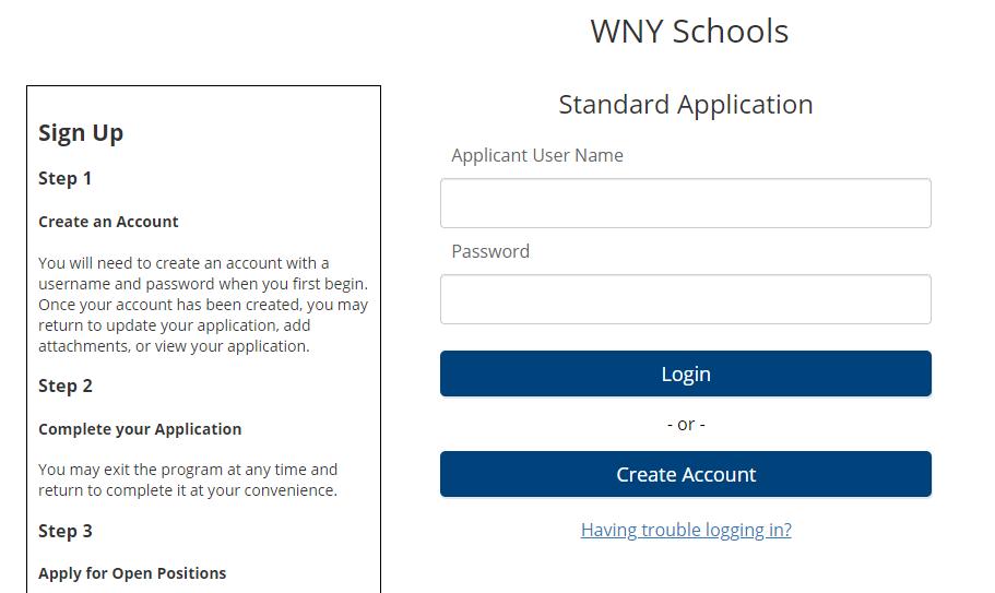 wnyric applicant login