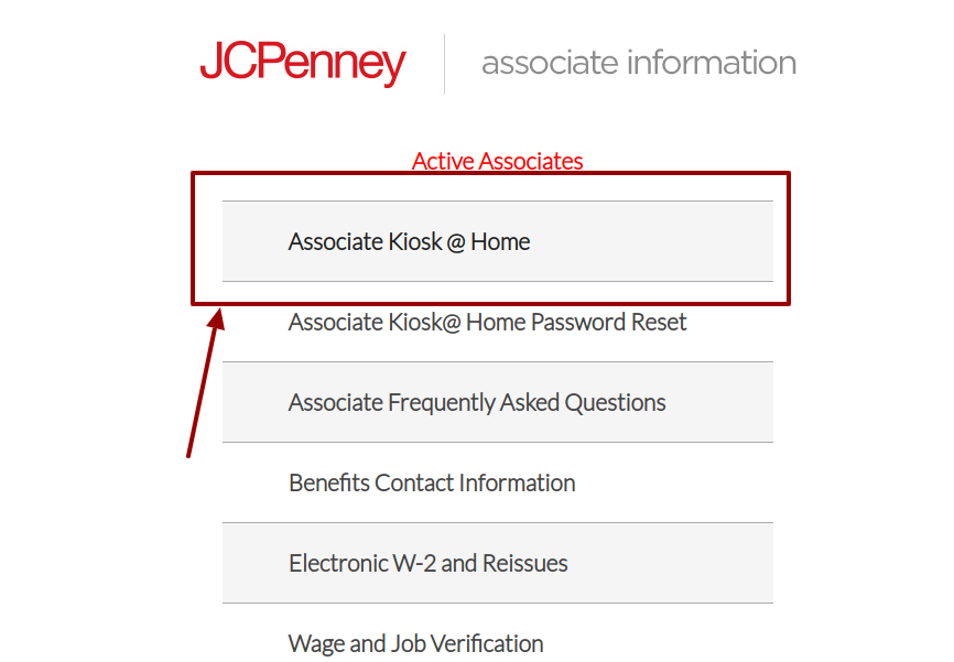 jcp associate login