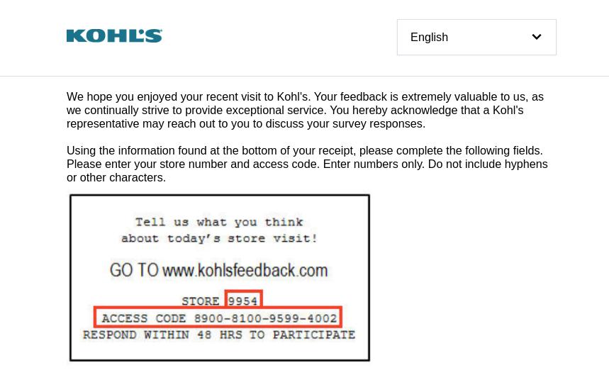 kohl's customer survey